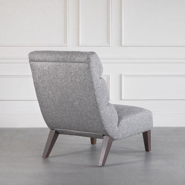 Isla Chair in B543 Light Grey, Back