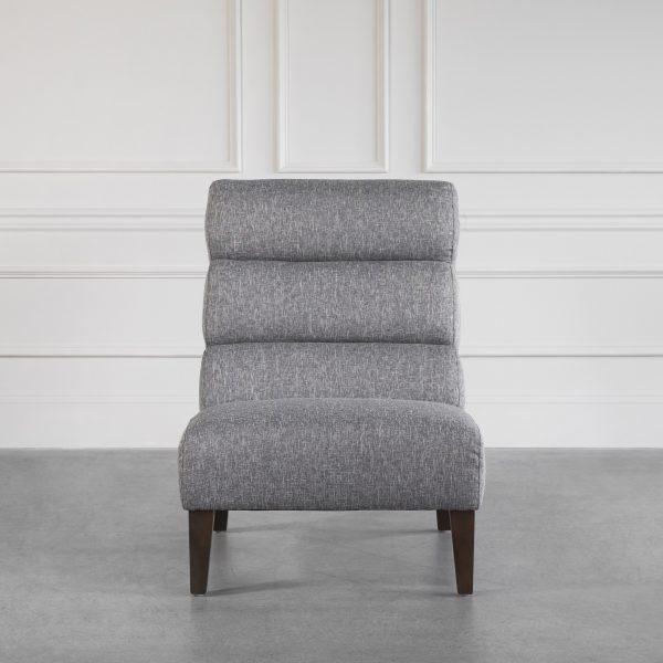 Isla Chair in B543 Light Grey, Front