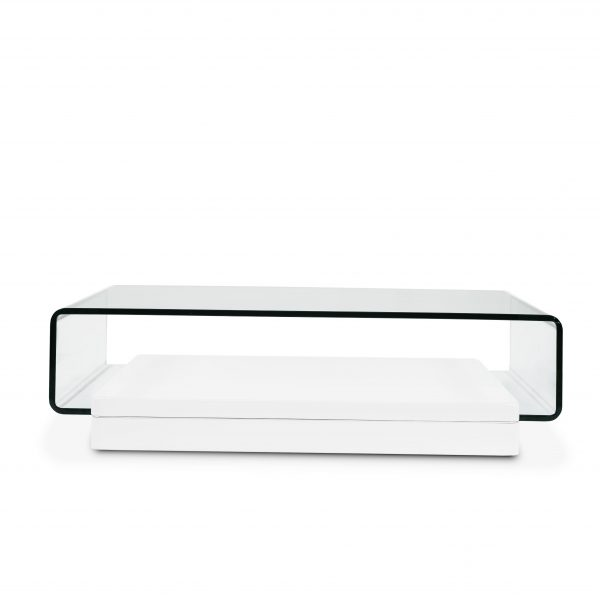 Lepage Coffee Table in White Lacquer, Front