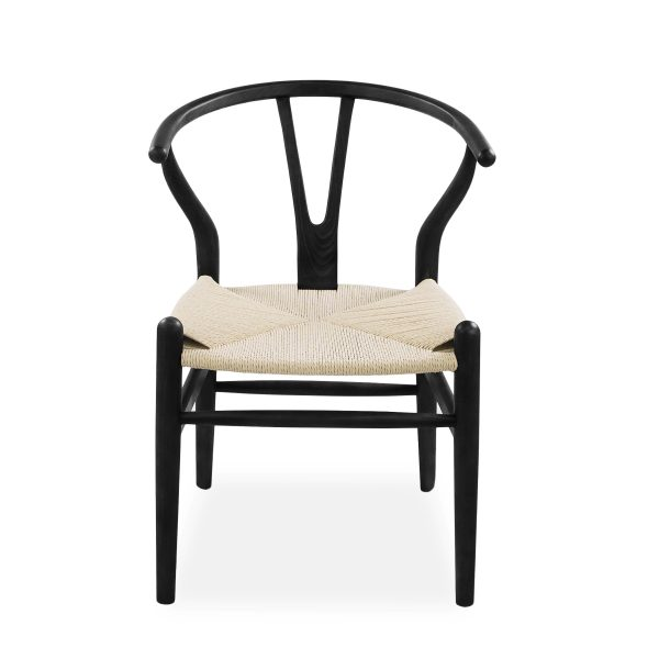 Mia Dining Chair in Black, Front