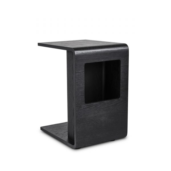 Archer Side Table in Black Oak, Angle