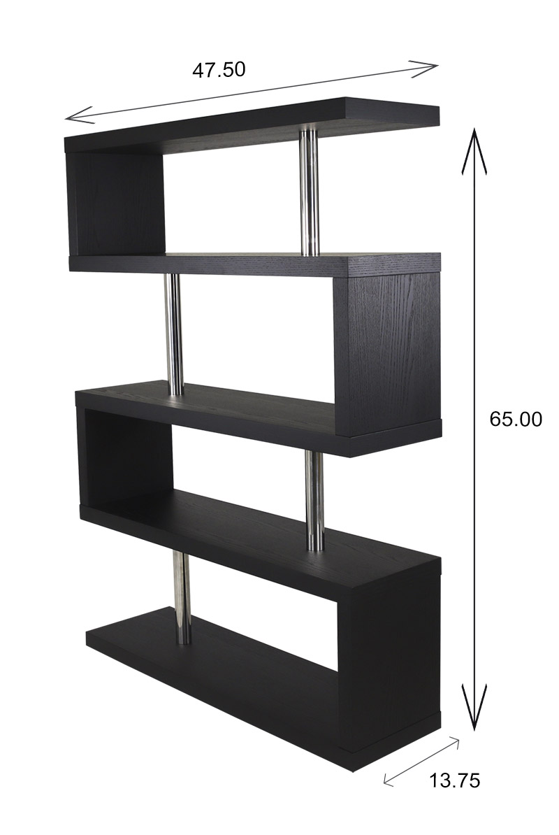 Hale Shelf in Black Oak, Dimensions