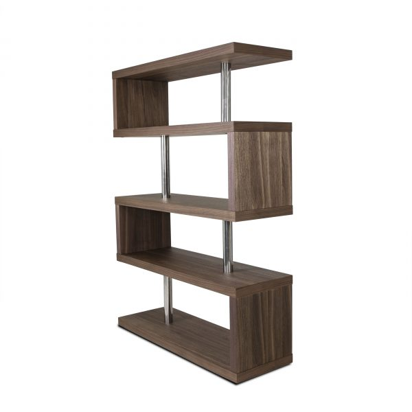 Hale Shelf in Walnut, Angle