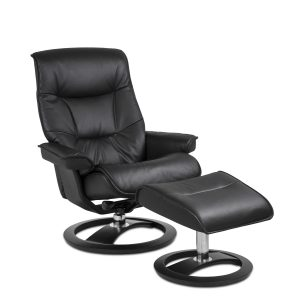IMG Cortina Recliner in Prime Black, Angle