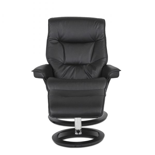 IMG Cortina Recliner in Prime Black, Front