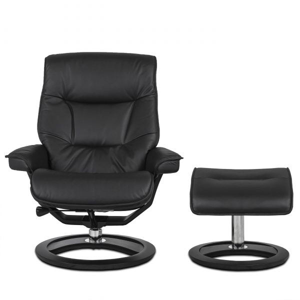 IMG Cortina Recliner in Prime Black, Front, Otto