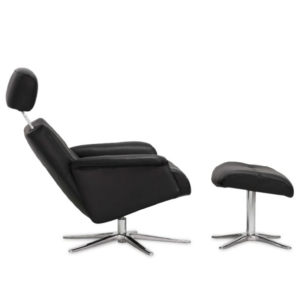 IMG Space 22.42S ET Recliner in Trend Tuxedo, Reclined