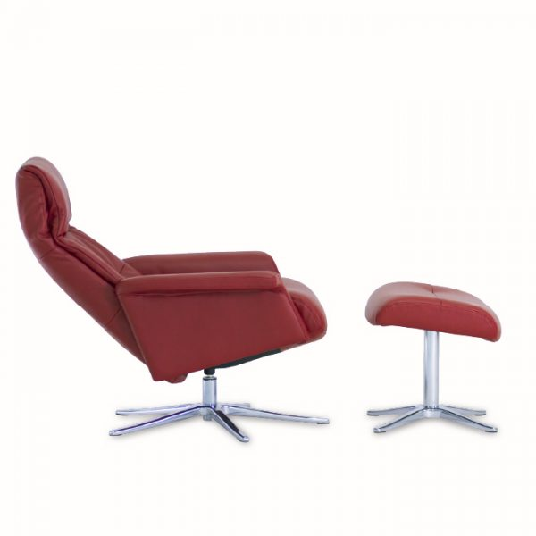 IMG Space 24.24 Recliner in Ruby, Reclined