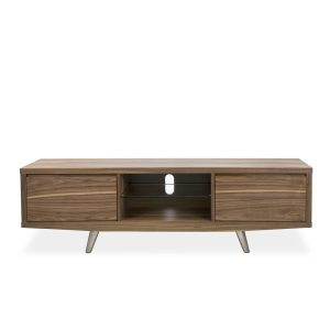 Leon TV Unit in Walnut, Front