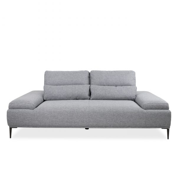 Motion Sofa in Grey Fabric, Front