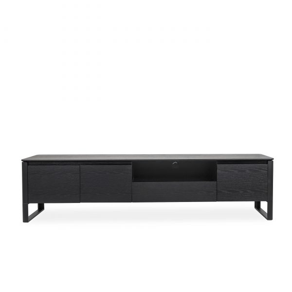 Olympia TV Unit in Black Oak, Front