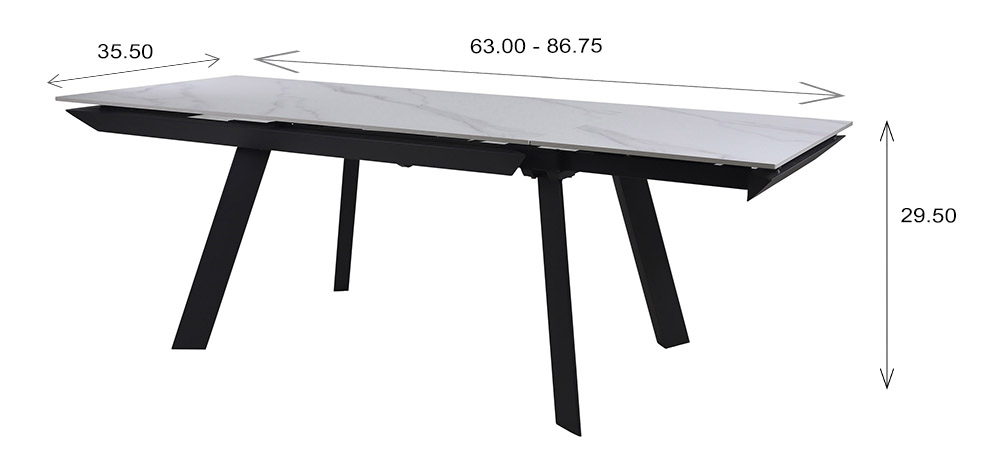 Talia Dining Table Dimensions