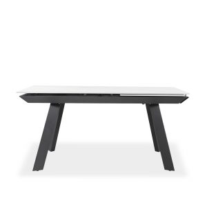 Talia Dining Table in White, Front