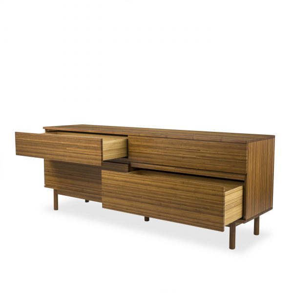 Ventura Dresser in Amber, Drawers Out
