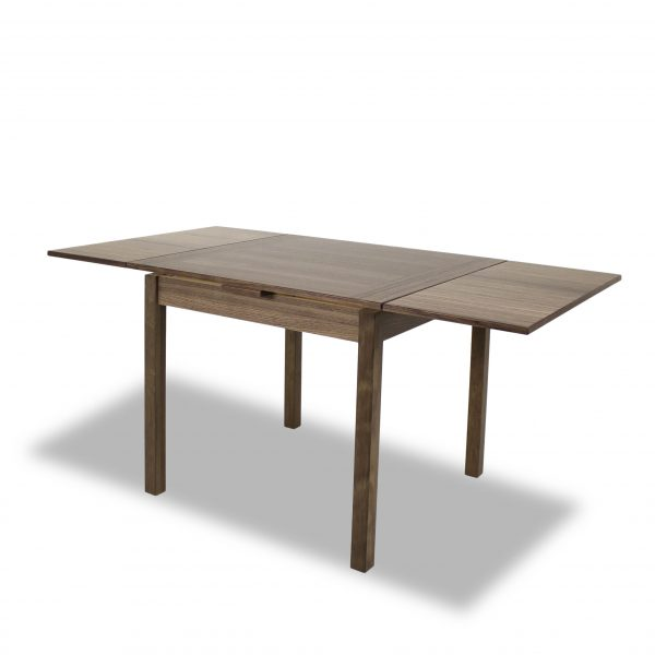 664 Dining Table in Walnut, Extended Angle