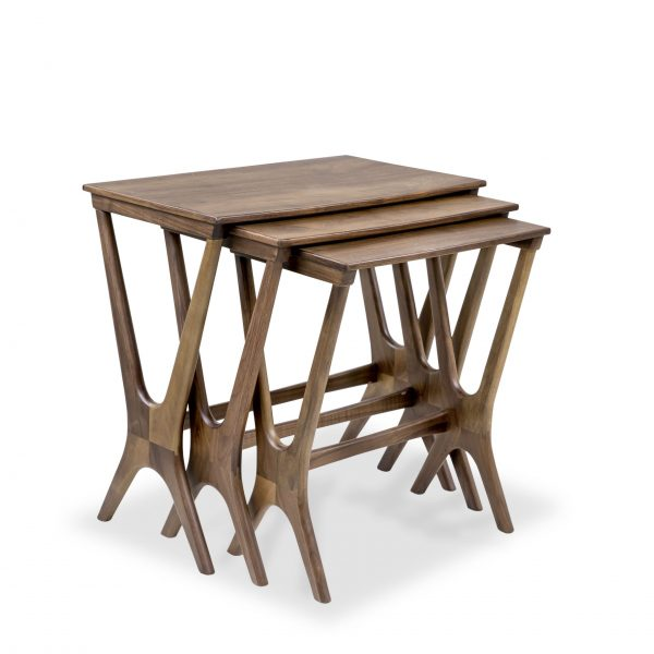 Gamma Nesting Tables in Walnut, Angle