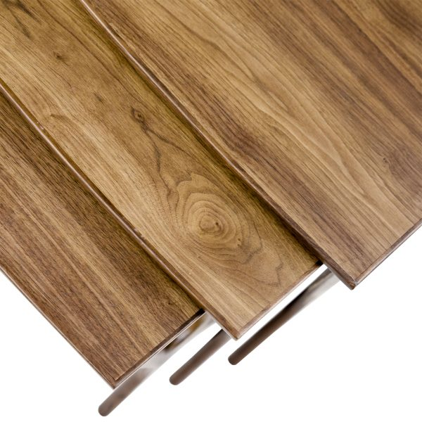 Gamma Nesting Tables in Walnut, Close Up