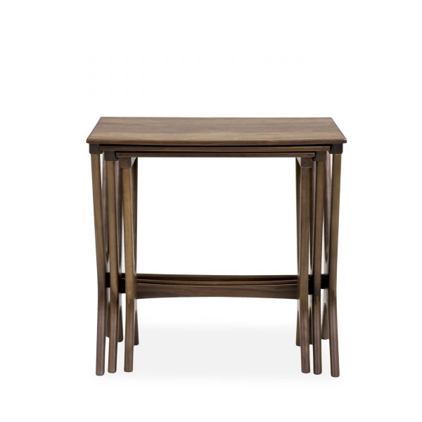 Gamma Nesting Tables in Walnut, Front
