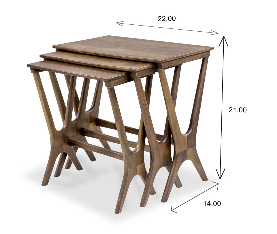 Gamma Nesting Table Dimensions