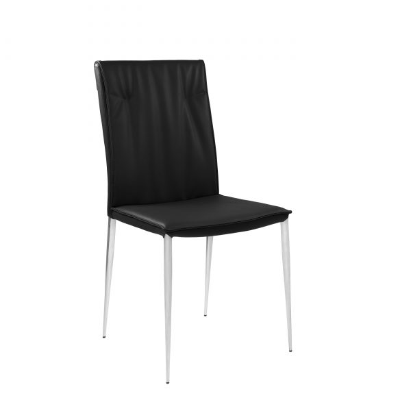 Harp Dining Chair in Black, Angle