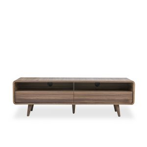 Kodiak TV Unit in Walnut, Front