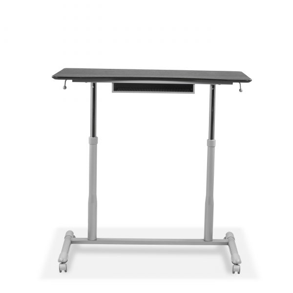 205 Lift Table in Espresso, Raised, Front