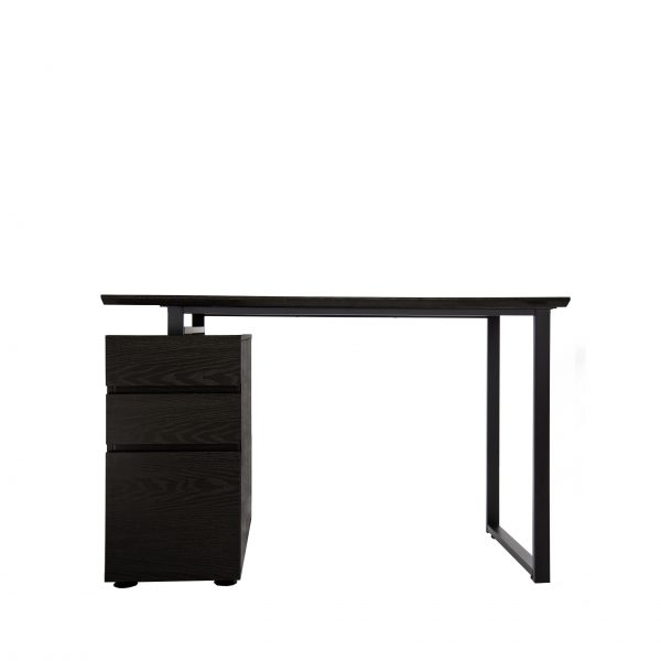 220 Pedestal Desk in Espresso, Front