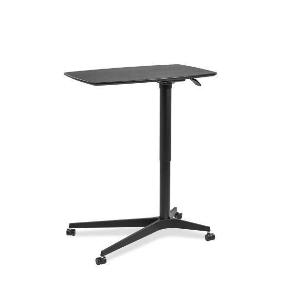 245 Lift Table in Espresso, Raised, Angle