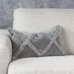 Angular Grey Pillow 12 x 20