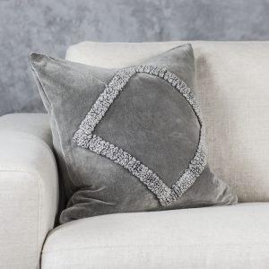 Angular Grey Pillow 20 x 20