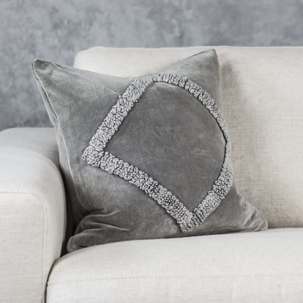 Angular Grey Pillow 20 x 20