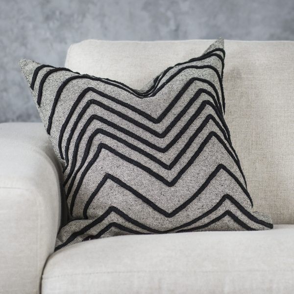 Chevron Grey Pillow