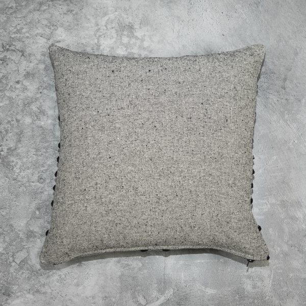 Chevron Grey Pillow, Back