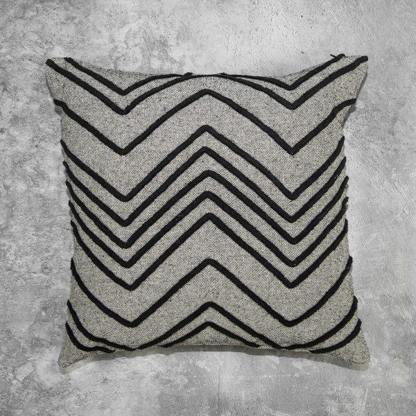 Chevron Grey Pillow, Top