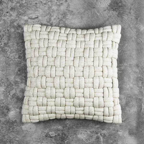 Clusp Cream Pillow, Front