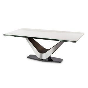 Elite Modern Victor 3018Cer Carbo Dining Table, Calcatta Closed