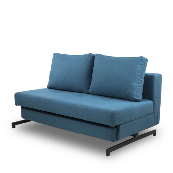 Lotus Sofabed in Teal, Angle