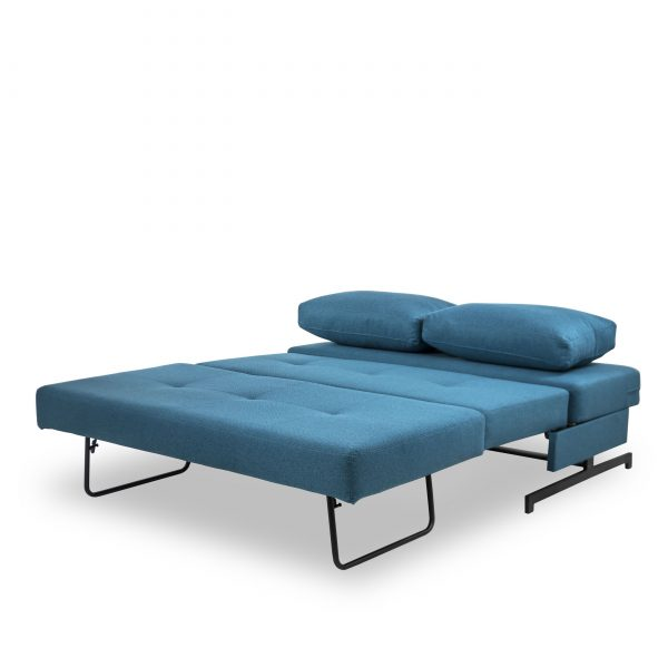 Lotus Sofabed in Teal, Open Flat