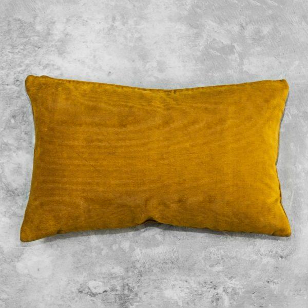 Penelope Ochre Pillow 12 x 20, Back