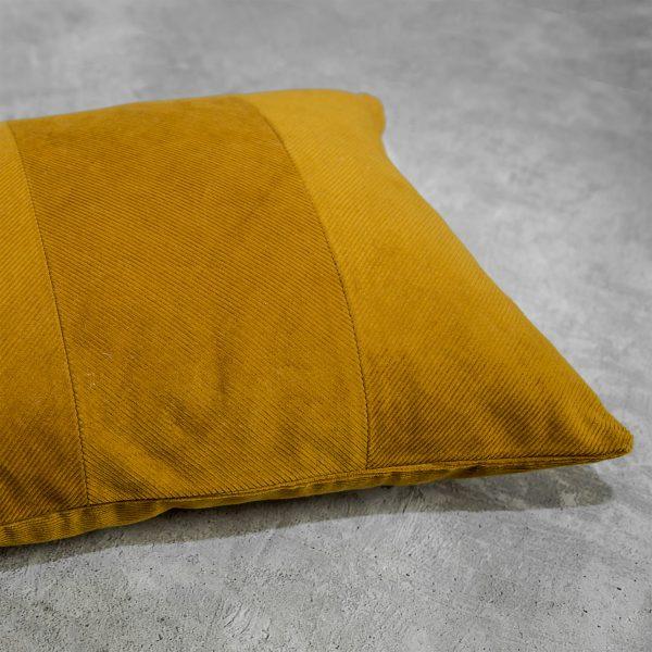 Penelope Ochre Pillow, Close Up