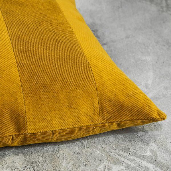 Penelope Ochre Pillow 12 x 20, Close Up
