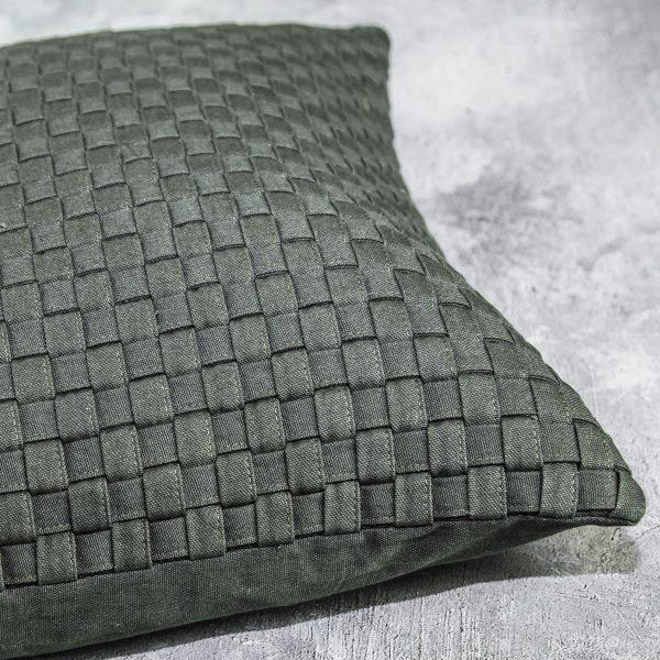 Saudik Olive Pillow, Close Up