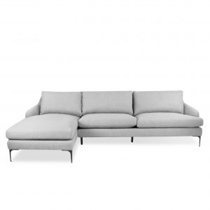 Wallis Sectional Light Grey Front LHS