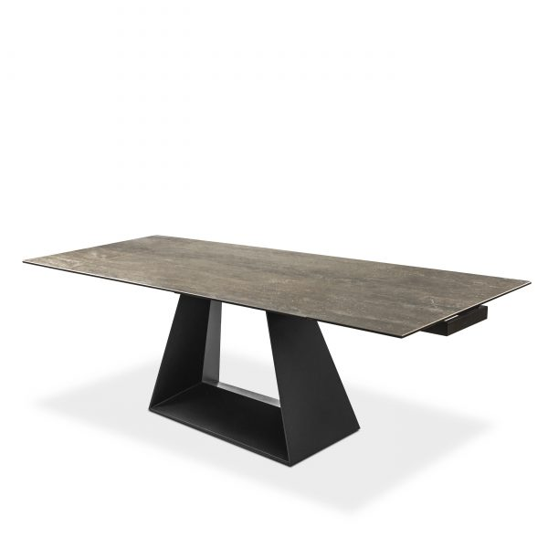 Andy Dining Table, Angle, Extended