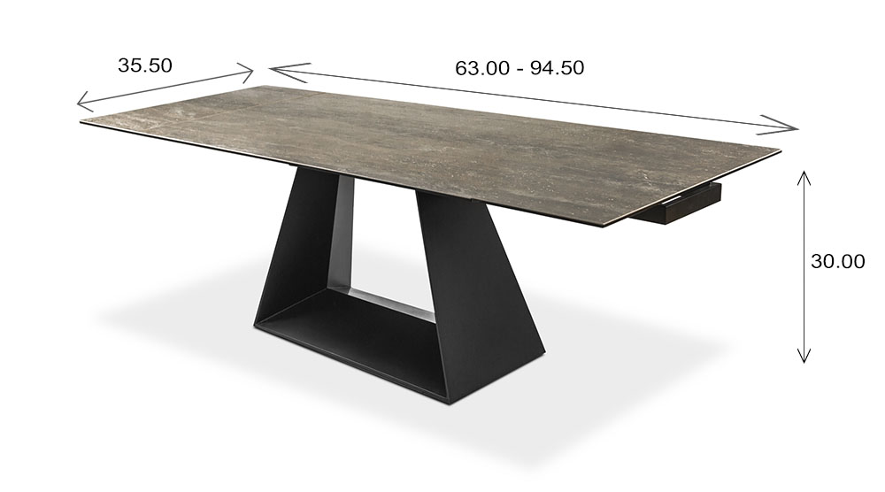 Andy Dining Table Dimensions