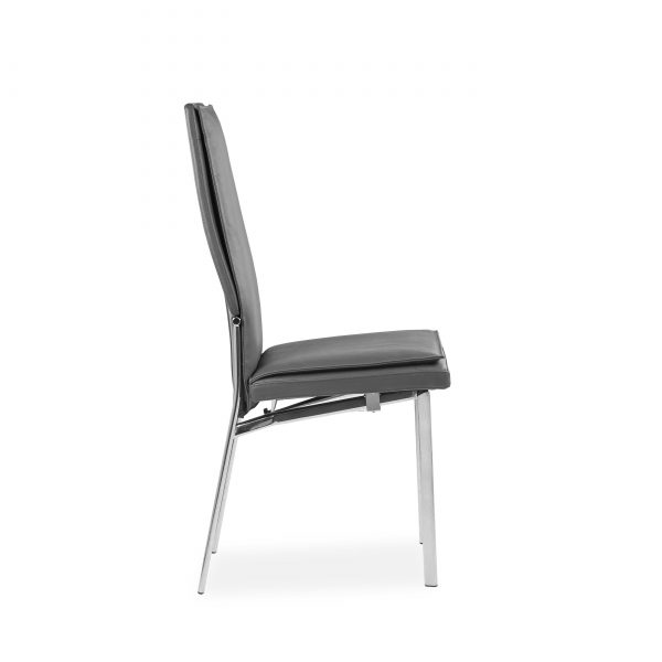 Anna Dining Chair, Grey, Side