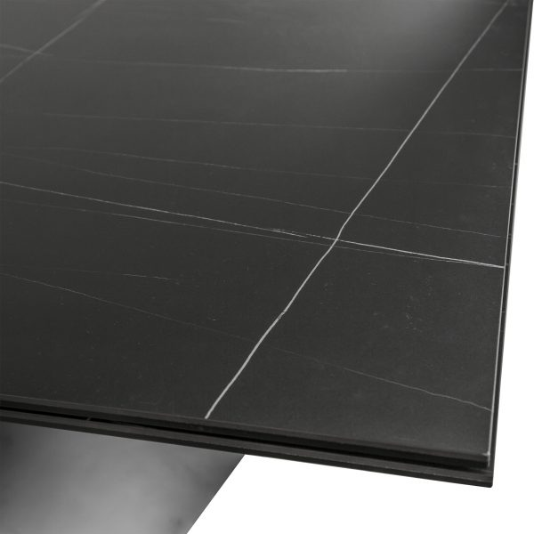 Bowen Dining Table in Black, Close Up