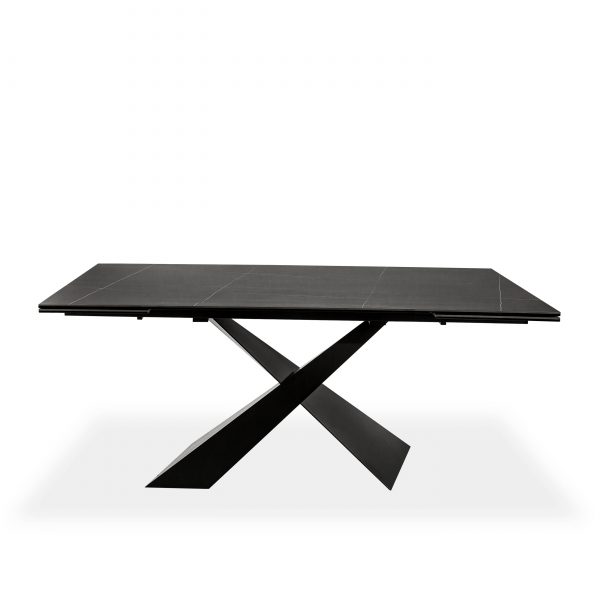 Bowen Dining Table in Black, Front