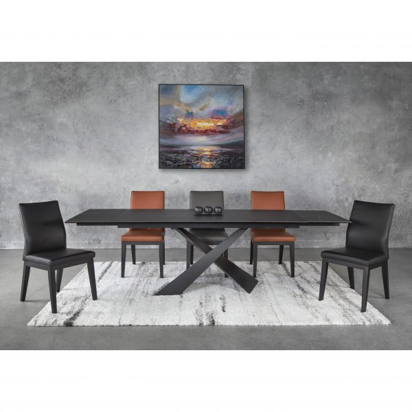 Bowen Dining Table with Lena Dining Chairs, Extended