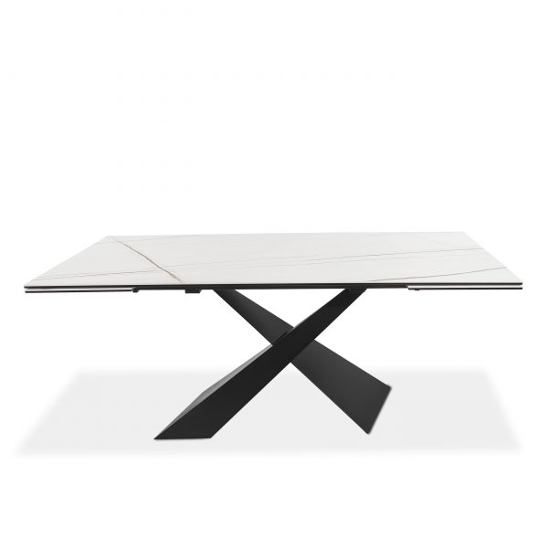 Bowen Dining Table in White, Front